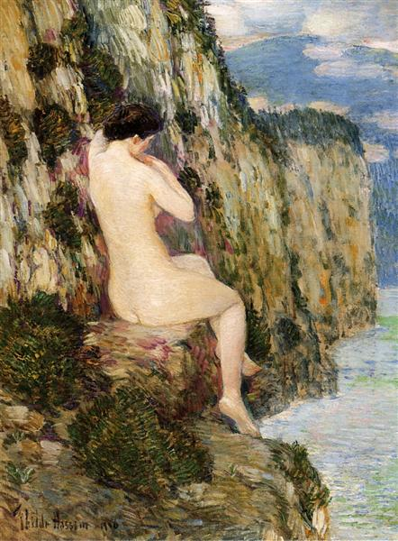 Nude on the Cliffs, 1906 - Childe Hassam