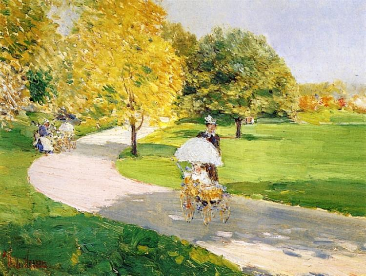 Nurses in the Park, 1889 - Childe Hassam