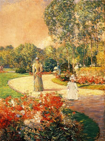 Park Monceau, Paris, 1897 - Childe Hassam