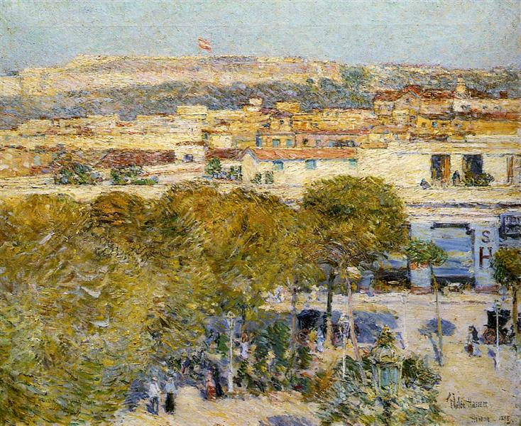 Place Centrale and Fort Cabanas, 1895 - Childe Hassam