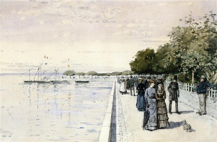 Promenade, 1883 - Childe Hassam