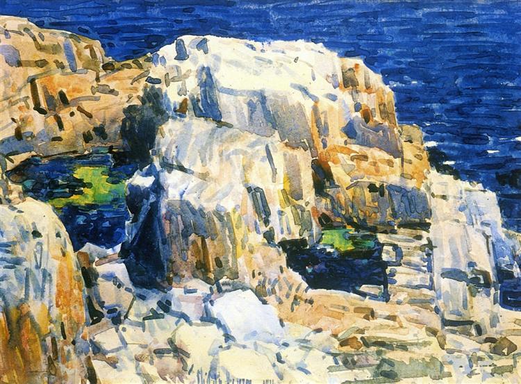 Rocks at Appledore, 1916 - Childe Hassam