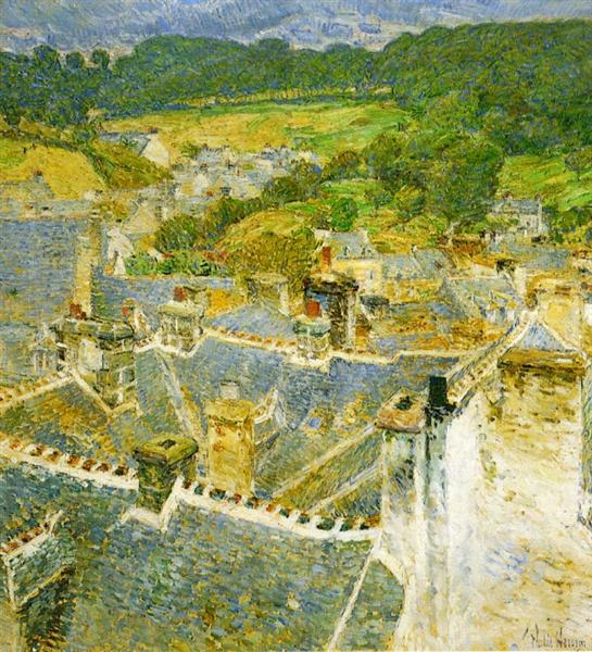 Rooftops, Pont-Aven, 1897 - Childe Hassam