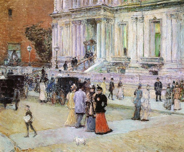 The Manhattan Club, 1891 - Childe Hassam