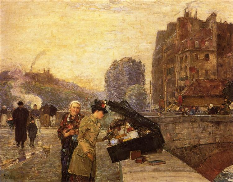 The Quai St. Michel, 1888 - Childe Hassam