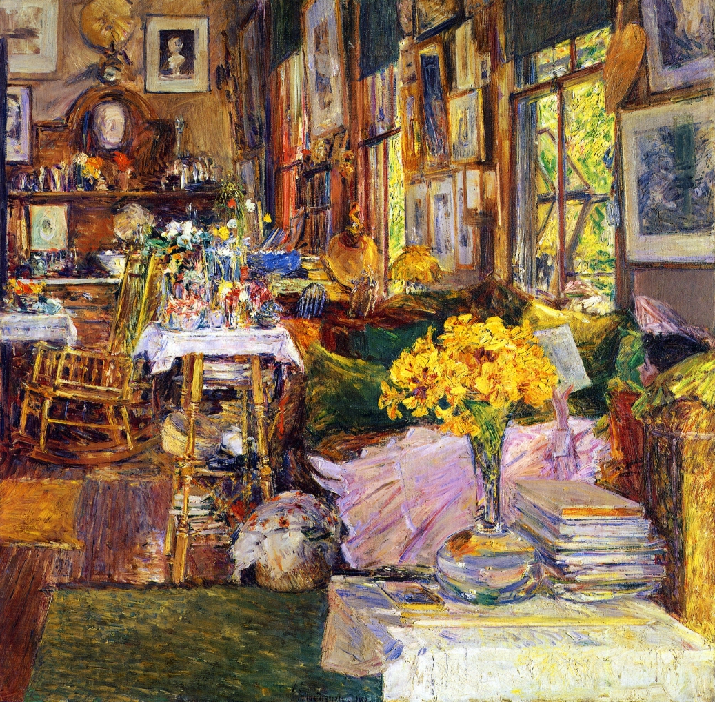 Modern Furniture For Less Dallas The Room Of Flowers, 1894   Childe Hassam    WikiArt