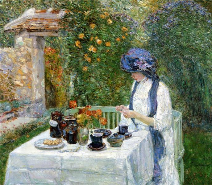 The Terre-Cuite Tea Set (aka French Tea Garden), 1910 - Чайльд Гассам