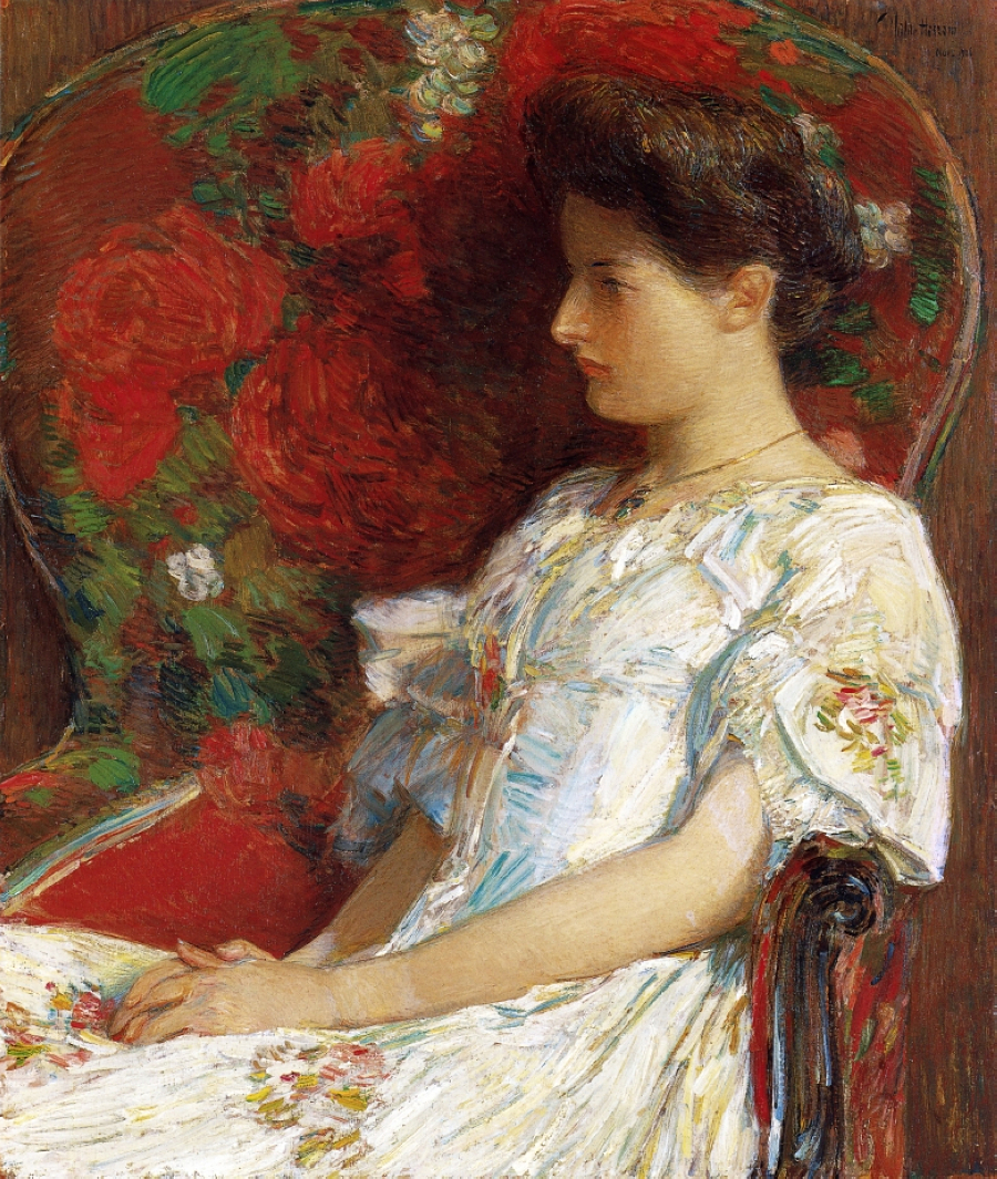 Frederick Childe Hassam The-victorian-chair