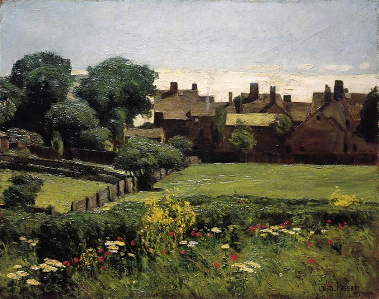 Village Scene, 1883 - 1885 - Childe Hassam
