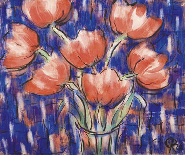 Rote Tulpen - Christian Rohlfs