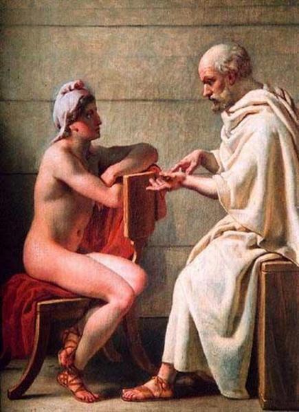 Sócrates y Alcibíades - Eckersberg Christoffer Wilhelm