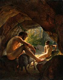Ulysses Fleeing The Cave Of Polyphemus - Christoffer Wilhelm Eckersberg