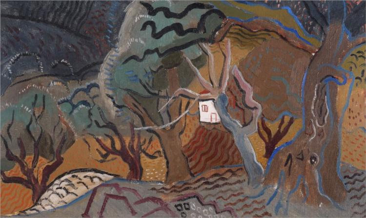 Landscape at Vence - Little White House, 1927 - Christopher Wood