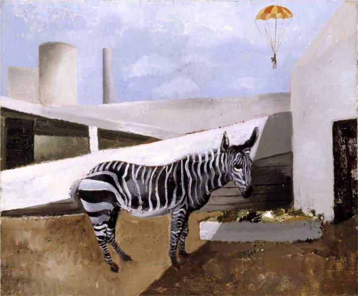 Zebra and Parachute, 1930 - Christopher Wood