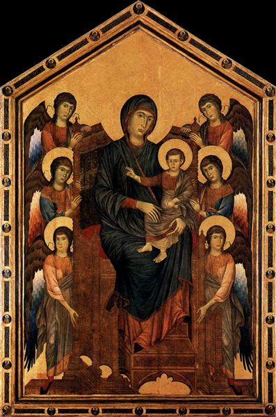 Virgin Enthroned with Angels, 1290-1295 - Cimabue