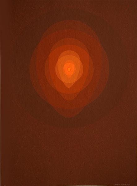 Red Mandala, 1967 - Clarence Holbrook Carter