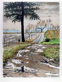 Untitled - Country Road - Clarence Holbrook Carter