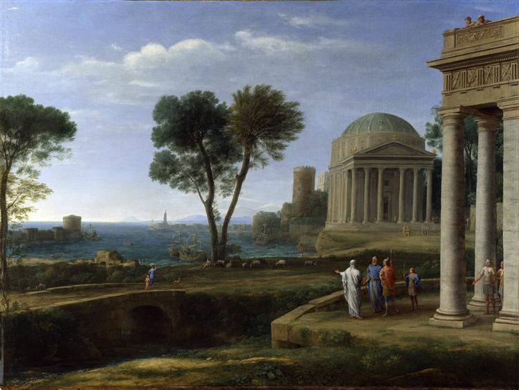 Landscape with Aeneas at Delos, 1672 - Claude Lorrain