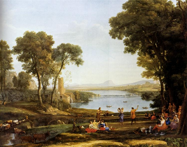 Landscape With The Marriage Of Isaac And Rebekah, 1648 - Claude Lorrain