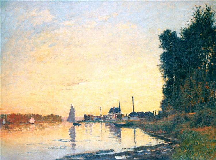 Argenteuil, Late Afternoon, 1872 - Claude Monet