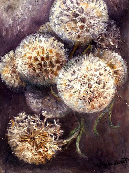 Dandelions, c.1900 - Claude Monet