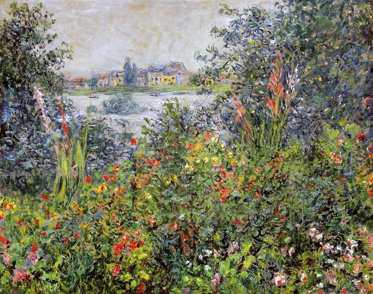 Flowers at Vetheuil, 1881 - Claude Monet