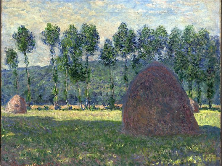 Haystack at Giverny, 1885 - Claude Monet