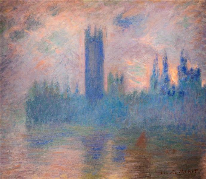 Houses of Parliament, Westminster, 1900 - 1901 - Claude Monet