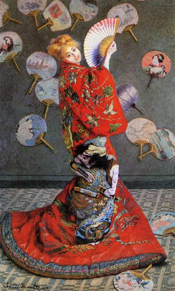 Japan's (Camille Monet in Japanese Costume), 1876 - Claude Monet