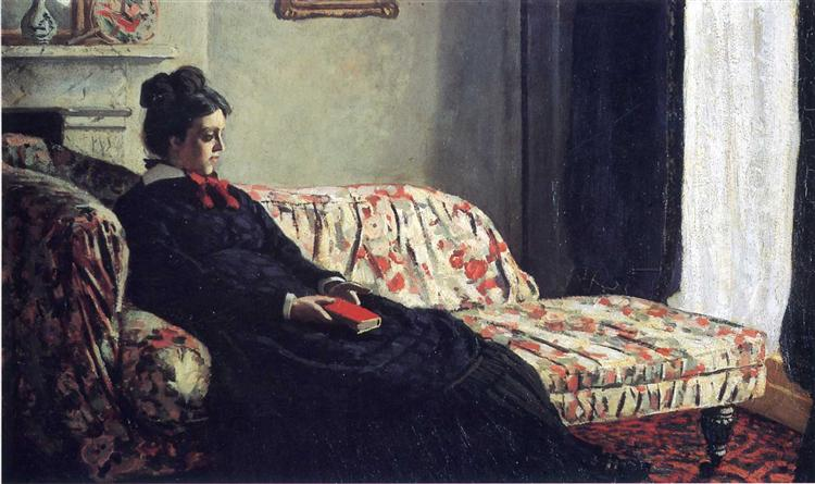 Meditation, Madame Monet Sitting on a Sofa - Claude Monet