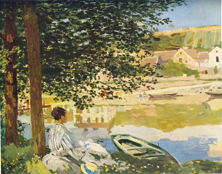 On the Bank of the Seine, Bennecourt, 1868 - Claude Monet