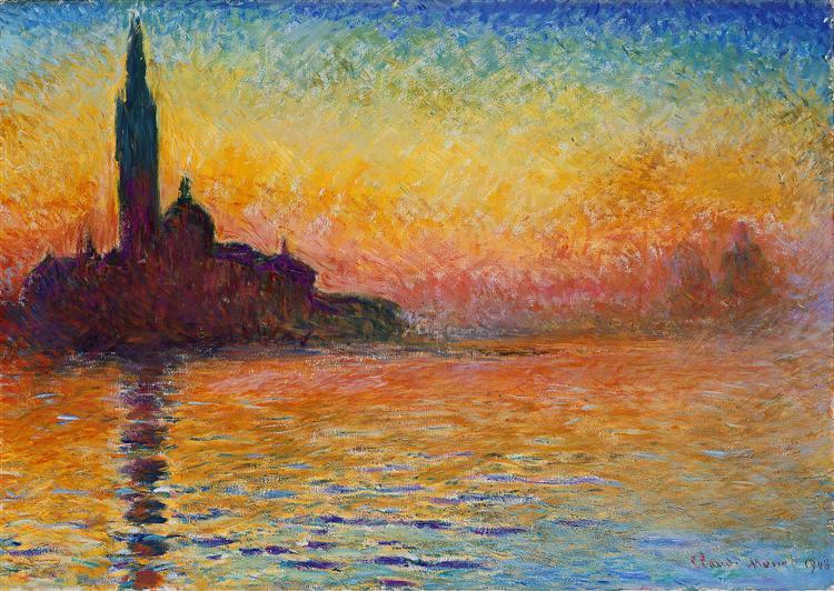 San Giorgio Maggiore at Dusk, 1908 - Claude Monet