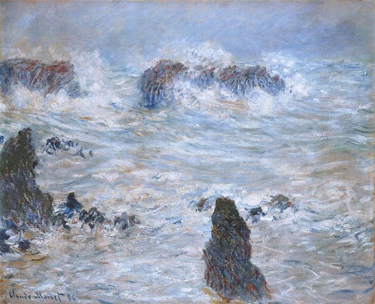 Storm, off the Coast of Belle-Ile, 1886 - Claude Monet