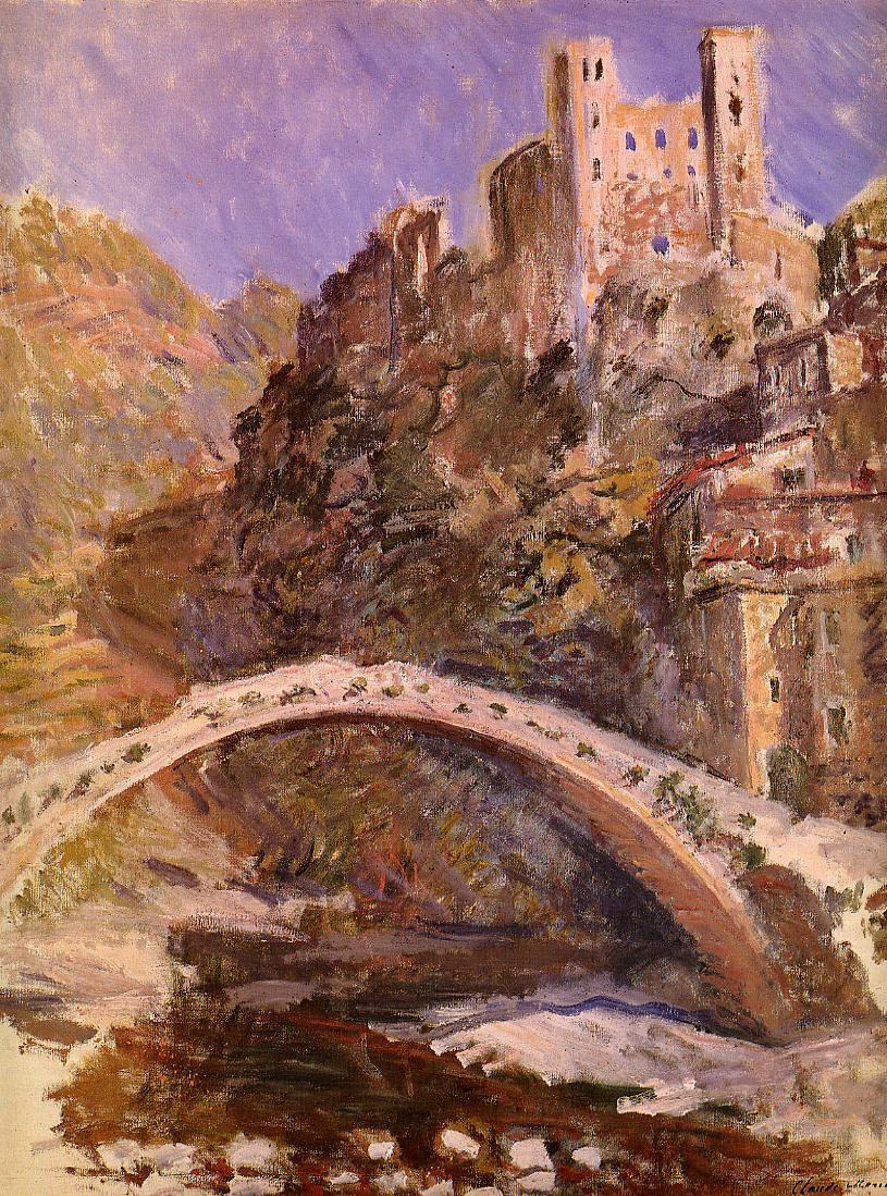 The Castle Of Dolceacqua 1884 Claude Monet Wikiart Org