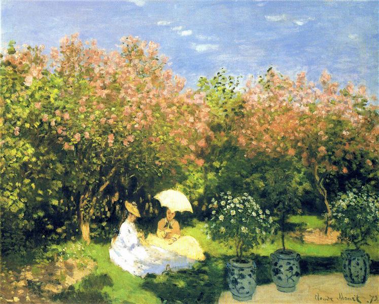 The Garden, 1872 - Claude Monet