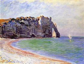 Claude Monet - The Manneport, Etretat, The Porte D'Aval