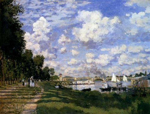 The Marina at Argenteuil - Claude Monet