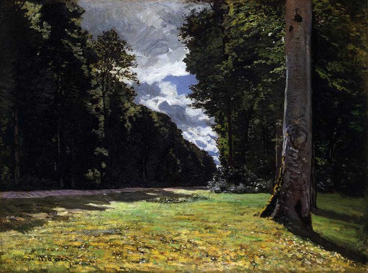 The Pave de Chailly in the Fontainbleau Forest, 1865 - Claude Monet