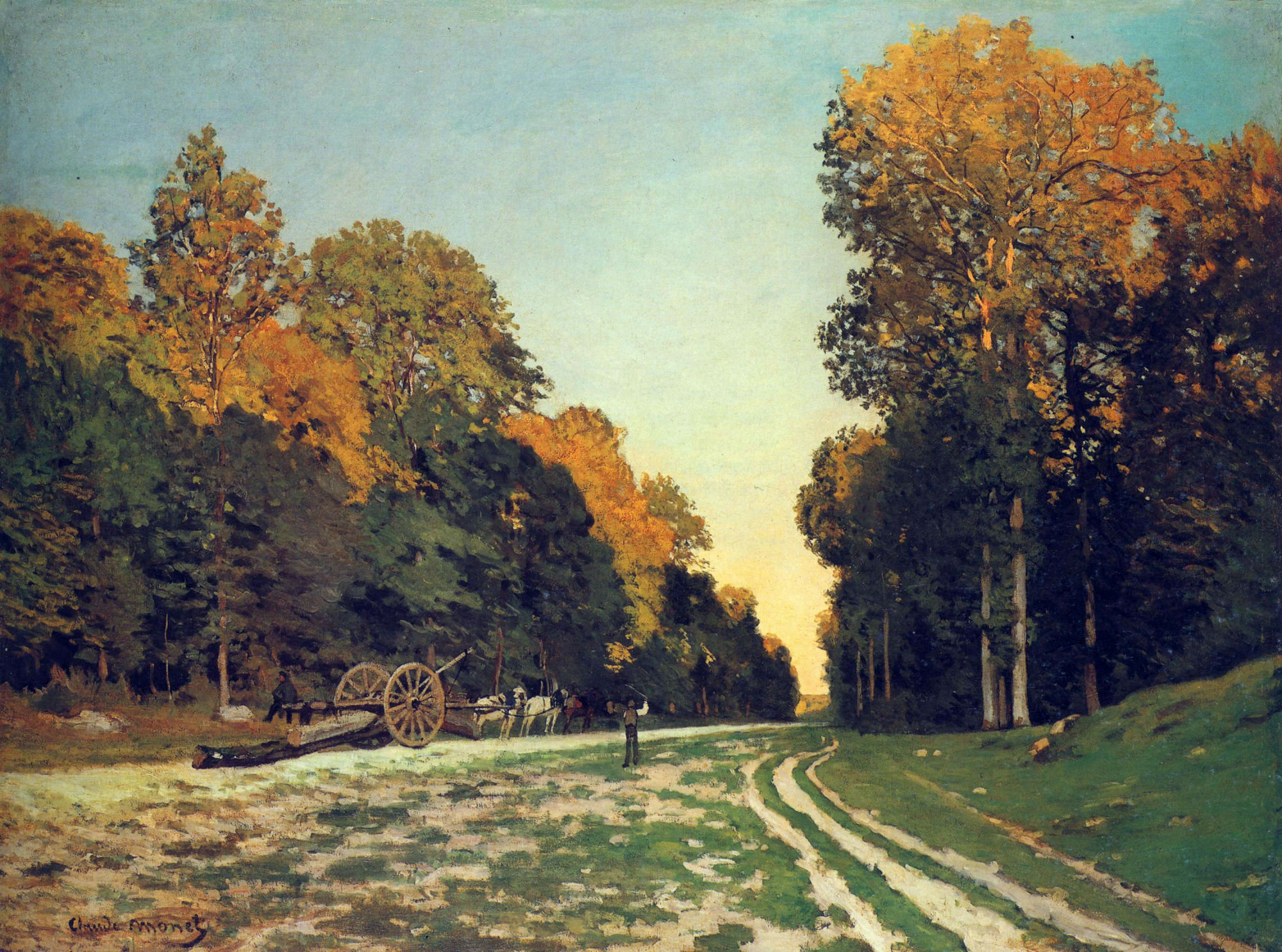 The Road from Chailly to Fontainebleau, 1864