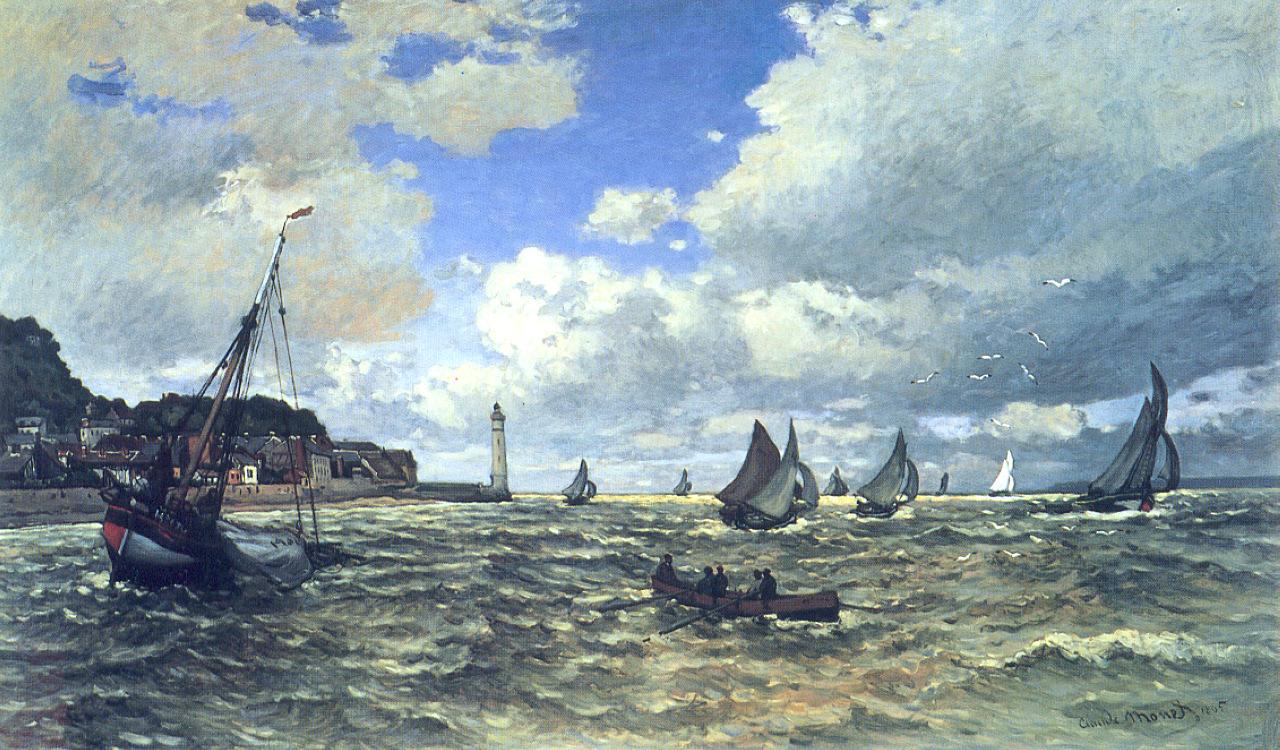 The Seine Estuary at Honfluer, 1865