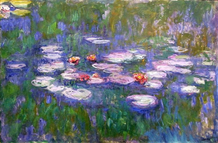 Water Lilies, 1916 - 1919 - Claude Monet