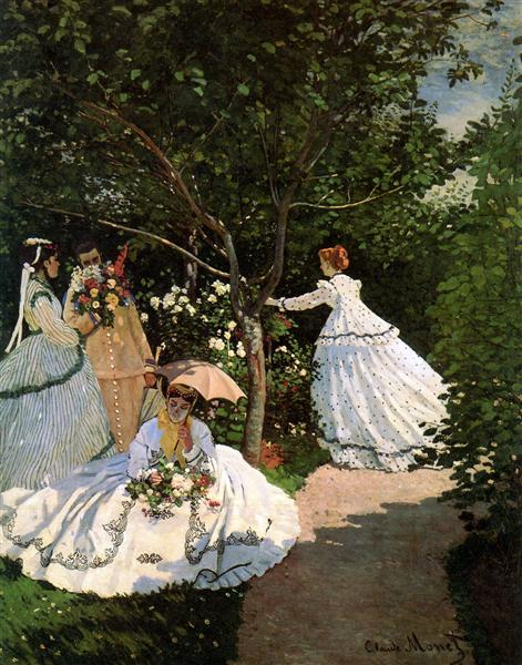 Women in the garden, 1866 - Claude Monet