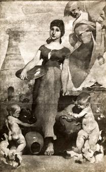 Allegory of Ceramic Painting - Columbano Bordalo Pinheiro