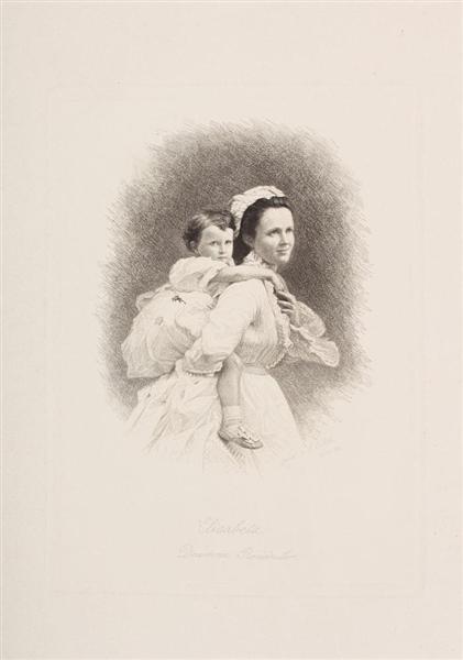 Queen Elizabeth and Princess Mărioara, 1877 - Constantin Stahi