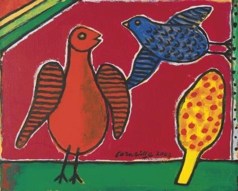 Two birds, 2002 - Corneille
