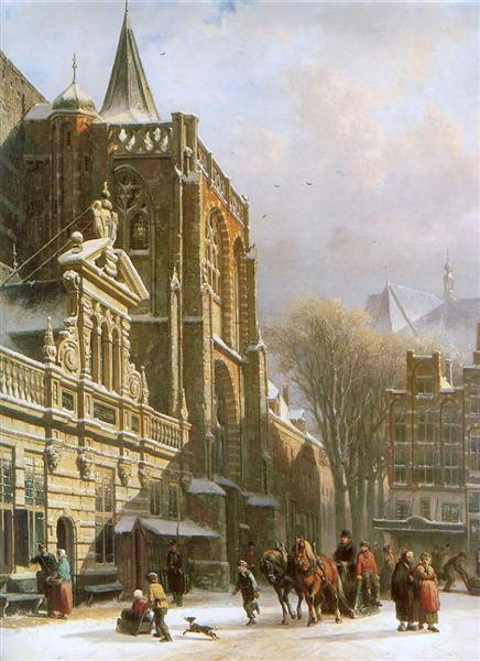 St. Michael Church in Zwolle, 1862 - Cornelis Springer