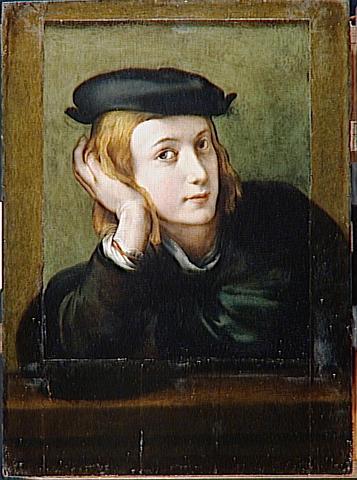 Portrait of a Young Man, c.1520 - Correggio