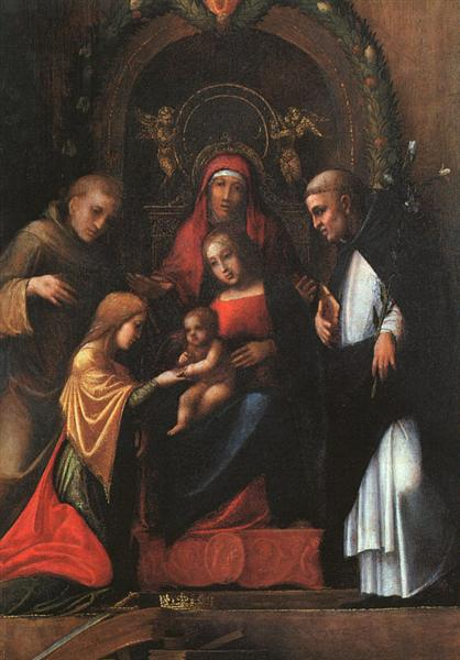 The Mystic Marriage of St. Catherine, 1510 - 1515 - Correggio