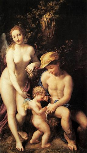Venus with Mercury and Cupid (The School of Love) - Correggio