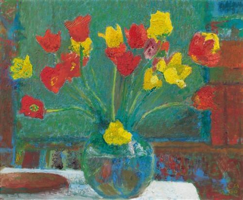 Bouquet of tulips, 1960